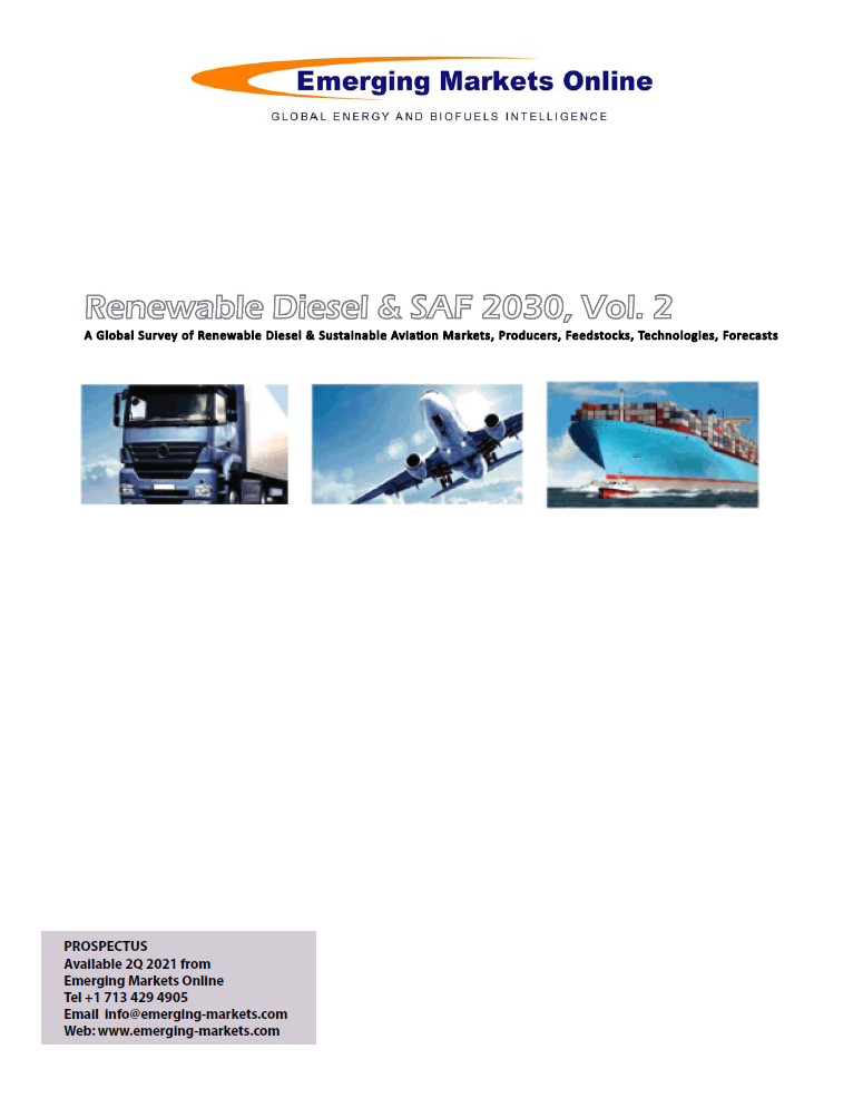 Renewable Diesel & SAF 2030 study