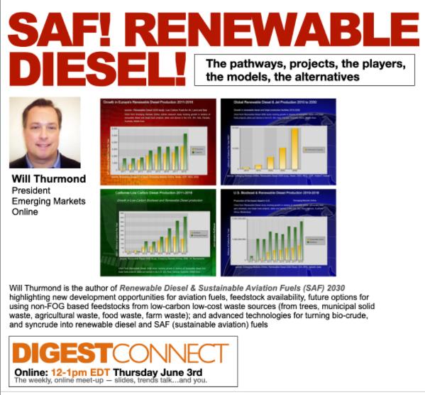 Renewable Diesel & SAF 2030 Author Will Thurmond speaks on Biofuels Digest Connect